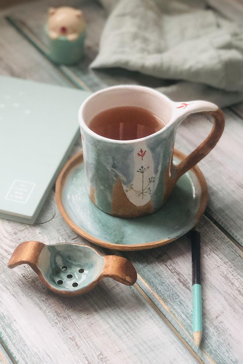 Чай в красивой чашке