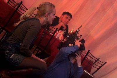 Оксана Карас на съёмках первых фильмов