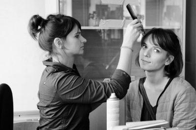 Оксана Карас вовремя съёмок фильма «Репитиции»