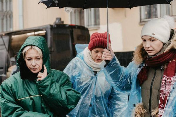 Чулпан Хаматова на съемках фильма «Доктор Лиза»