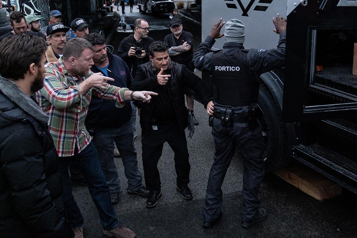 Кадры со съемок фильма «Гнев человеческий»